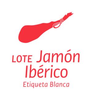 Lote jamón ibérico etiqueta blanca