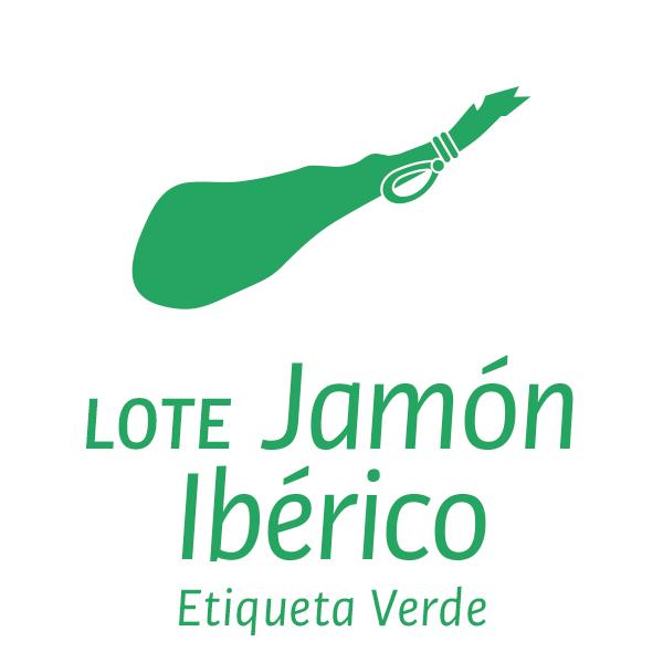 Lote jamón ibérico etiqueta verde