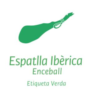 espatlla ibèrica enceball etiqueta verda